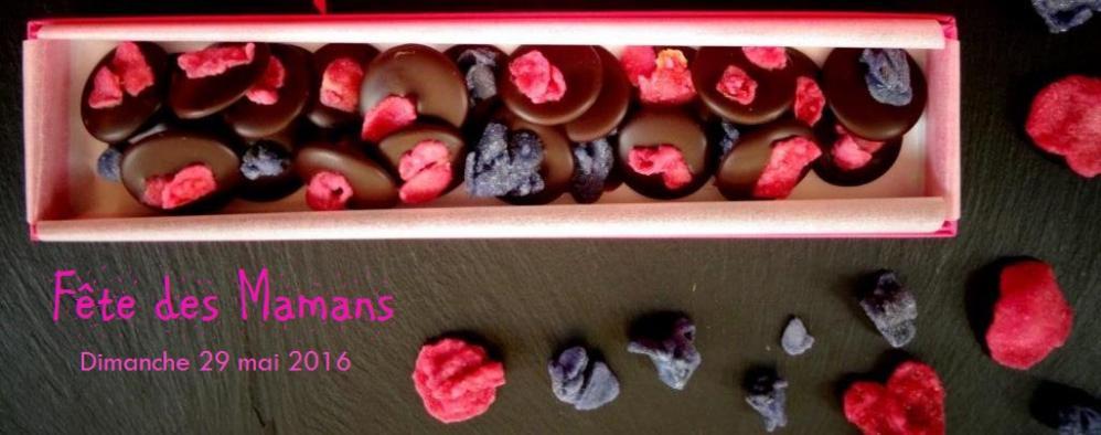 Photo reglette palets fleurs cristallisees fete des meres